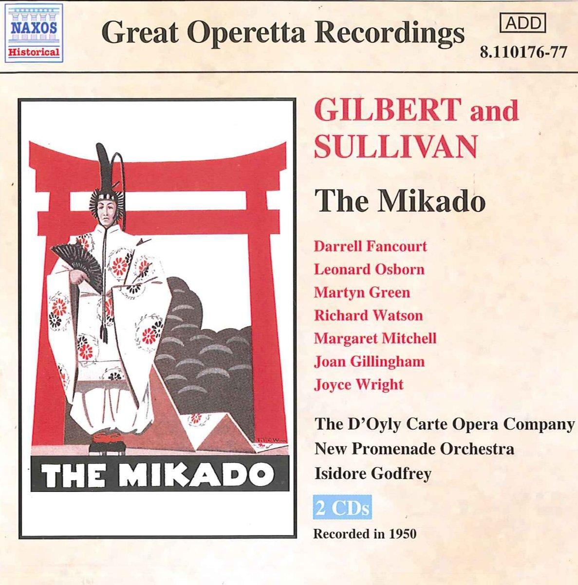 Carte Orchestra.Gilbert Sullivan Gilbert Sullivan The Mikado 1950 D Oyly