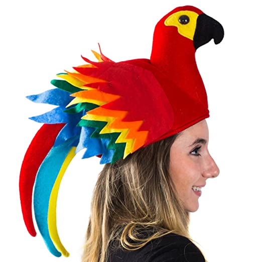 5a83896ae16 Amazon.com  Tigerdoe Parrot Hat - Parrot Hats Jimmy Buffet - Novelty Hat -  Parrot Head Hat - Hawiian Party - Bird Costume Hat (Parrot Hat (Colorful))   ...