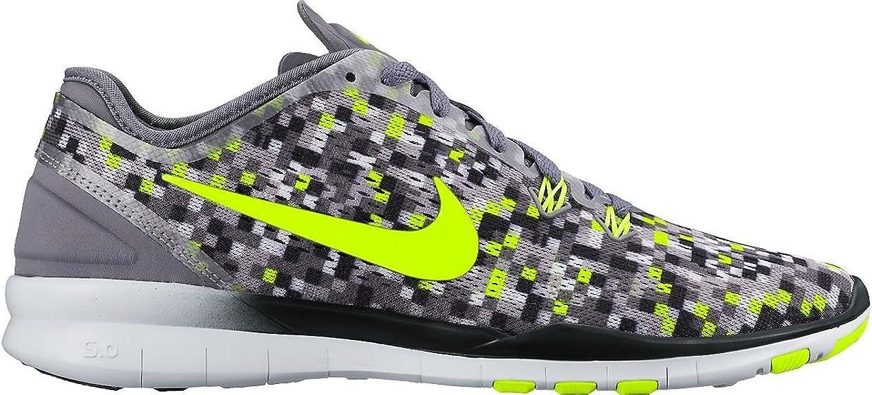 online for sale picked up timeless design Nike Wmns Nke Free 5.0 Tr Fit 5 Prt - cool grey/black-volt, Größe ...