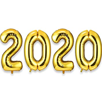 Globos Número Gigante 2020 Globos de Papel de Aluminio de 40 ...
