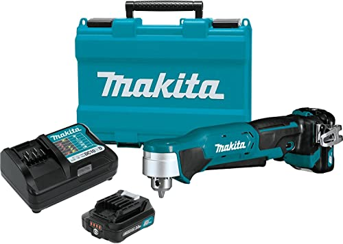 Makita AD03R1 12V max CXT Right Angle Drill Kit, 3 8