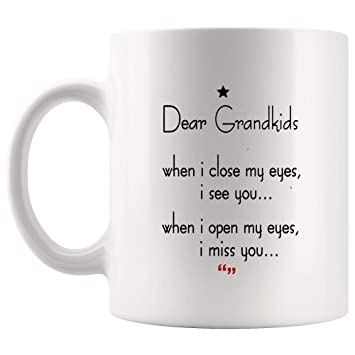 Amazoncom Grandkids Close Eyes See Open Miss Mug Gift For Best