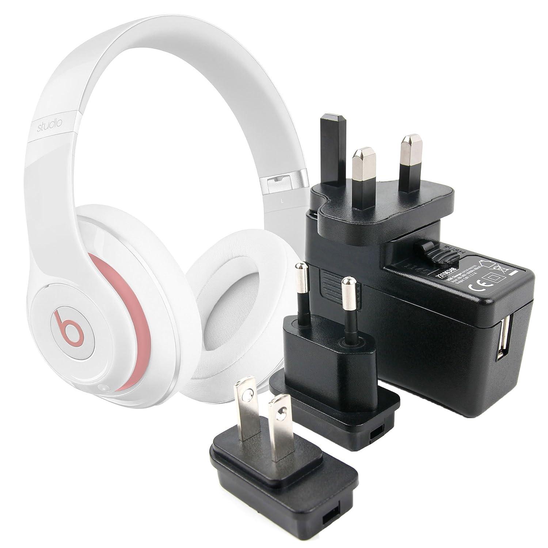 Duragadget Chargeur Secteur USB 2 amp pour écouteurs Beoplay H8i et H9i et HyperX Cloud Flight - Charge Rapide