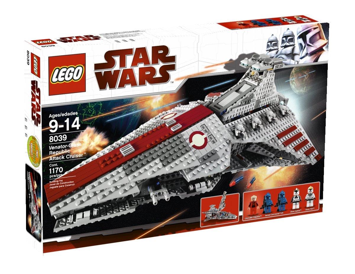 amazoncom lego star wars venator class republic attack cruiser 8039 discontinued by manufacturer toys games - Lego Star Wars Vaisseau Clone