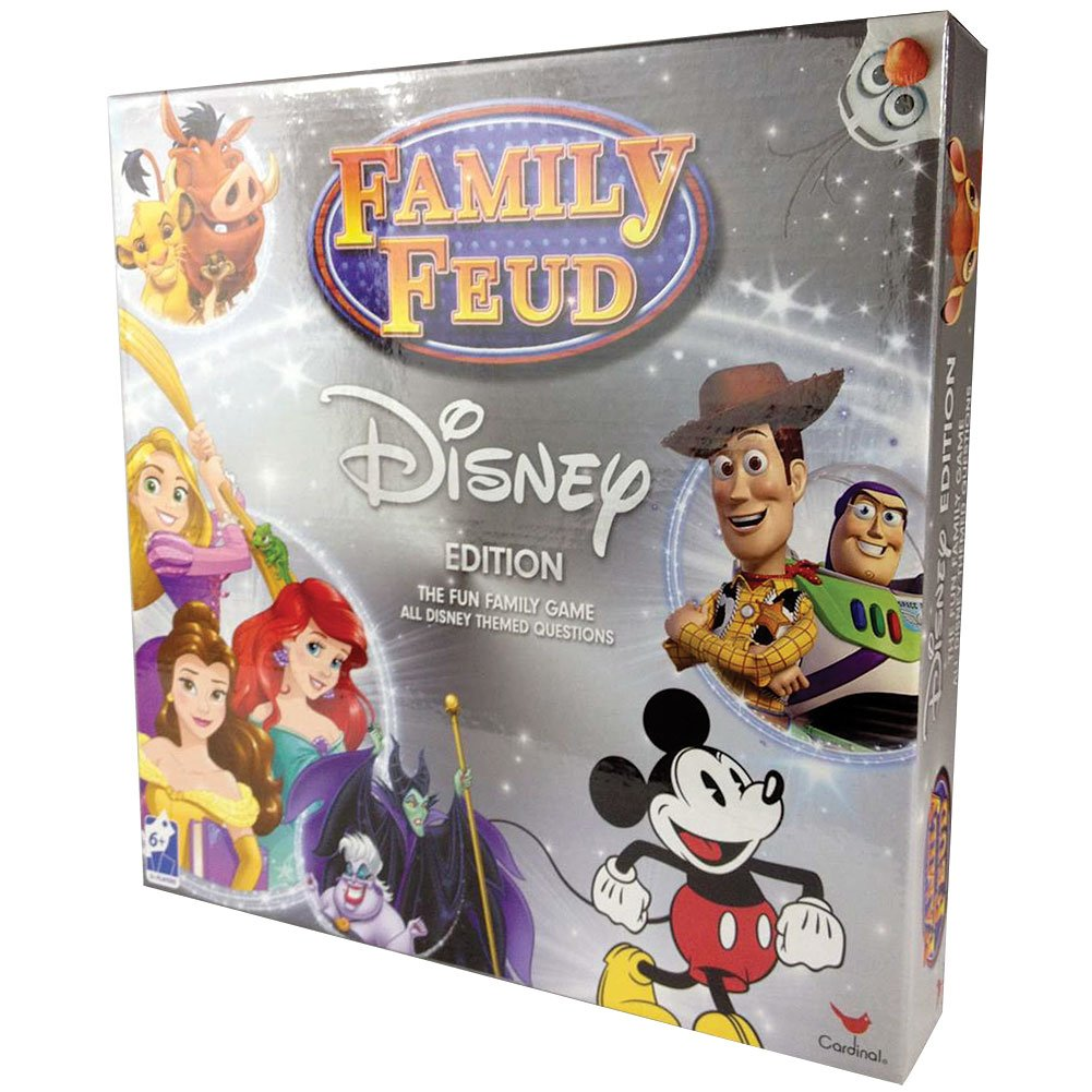 Survey Says Fun 3 Plus Players Ages 8+ Cardinal Industries Disney Edition Family Feud Game