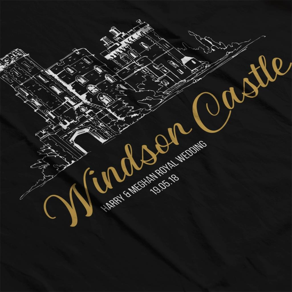 Windsor Castle Harry and Meghan Royal Wedding Kid's T-Shirt by Coto7 (Image #5)