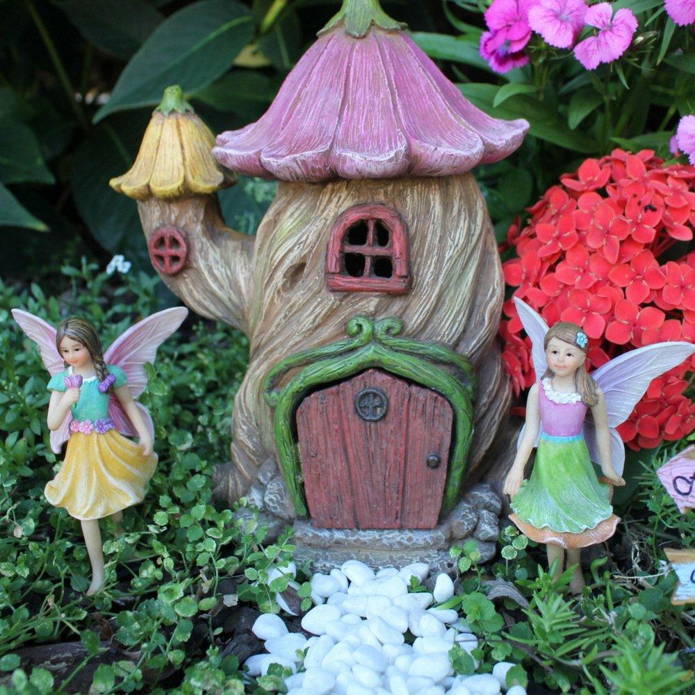 Fairy Garden Fairy House U2013 Accessories Kit With Miniature Garden Fairies U2013  House Is 7u201d(18cm) High U2013 Door Can Open Wide U2013 Supplies By Pretmanns