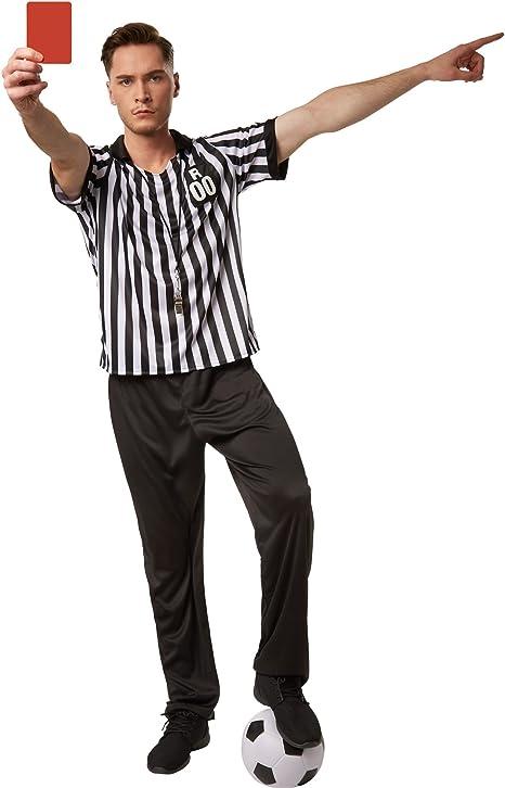 dressforfun Disfraz de árbitro para hombre | Camisa de manga corta ...