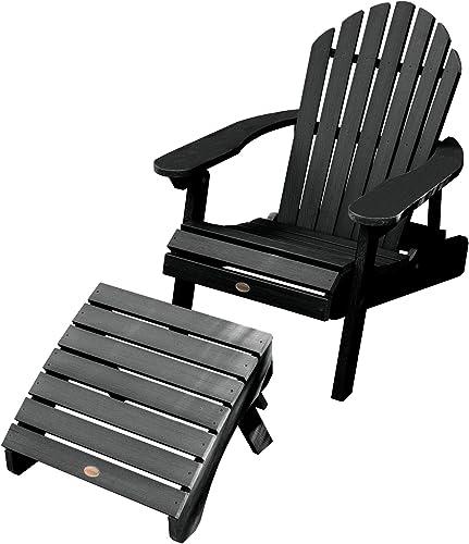 highwood AD-KITCHL1-BKE Hamilton Folding Reclining Adirondack Chair