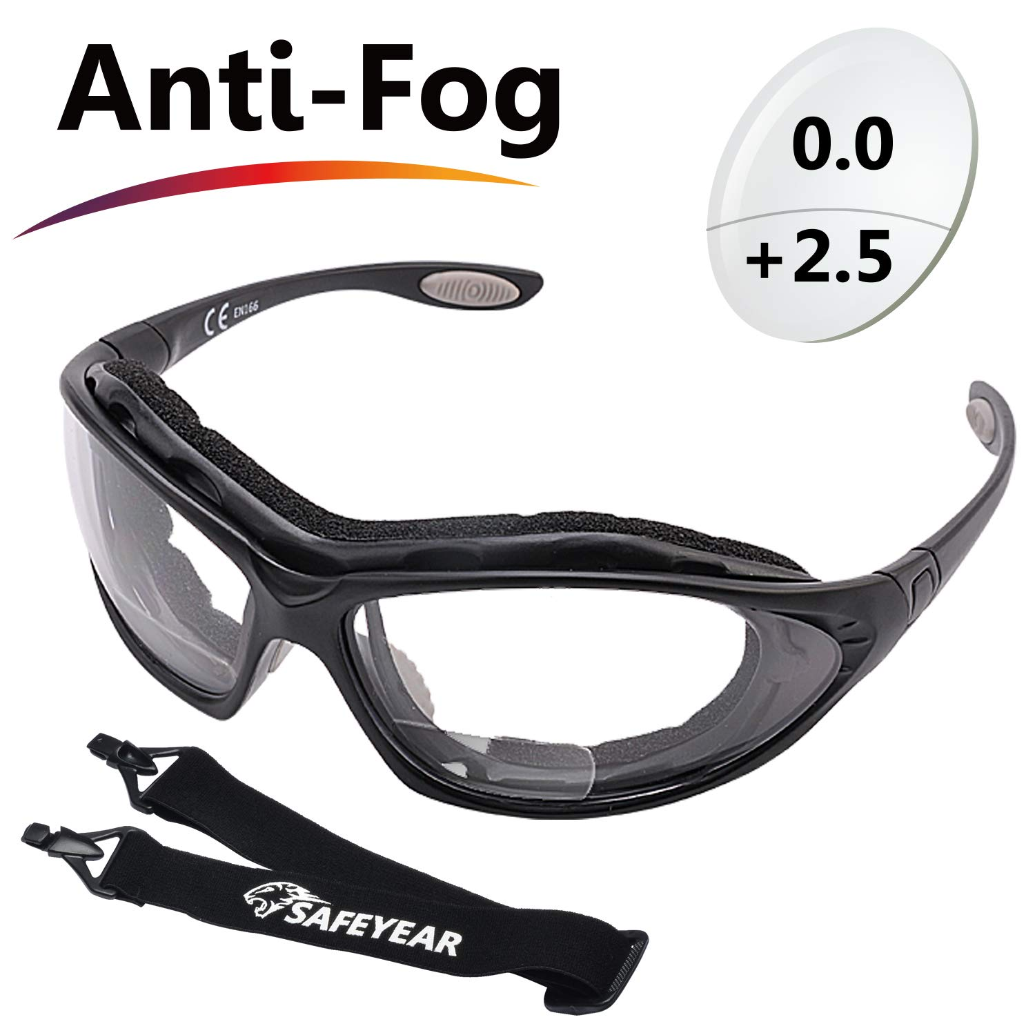 Eye Protection Work Infield Mesh Plastic Airsoft Goggles for DIY Job Lab etc Safeyear Anti-fog Ladies Safety Glasses UV Protective PPE Airsoft Glasses Women SG010 EN166 Wraparound Safety Goggles
