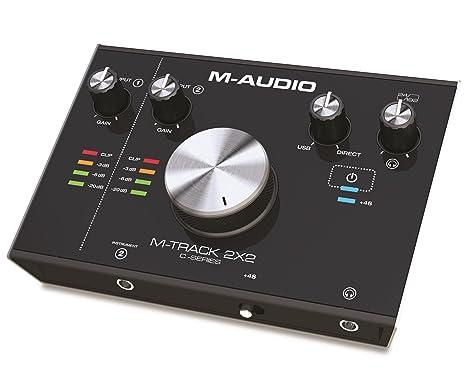 M-Audio M-Track 2x2 - Interfaz de audio USB con 2 entradas y 2 salidas, audio a 24 bits y 192 kHz, con ProTools | First y paquete de software ...