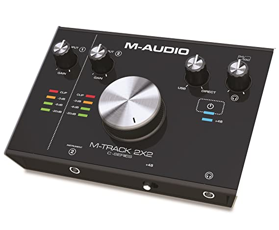 M-Audio M-Track 2X2 | 2-In / 2-Out 24/192 USB Audio Interface