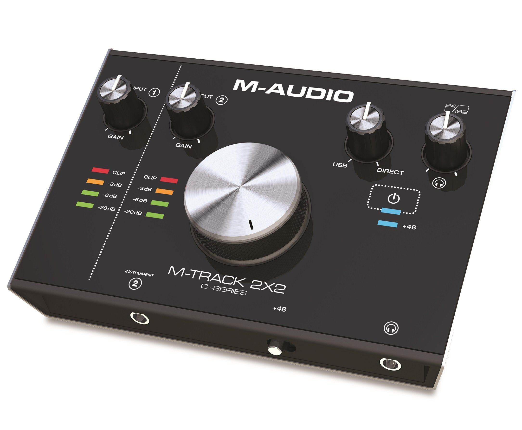 M-Audio M-Track 2X2 C-Series | 2-in/2-out USB Audio Interface (24-bit/192kHz) by M-Audio