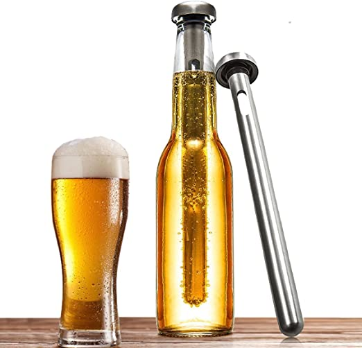 Cerveza fría N Chill | Juego de 2 jarras de cerveza enfriador ...