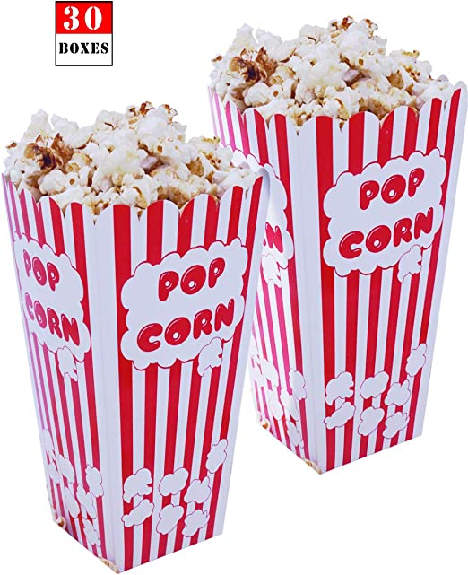 Popcorn Bags Party Theater Movie Night Carnival Circus Big Top Paper Sack 48