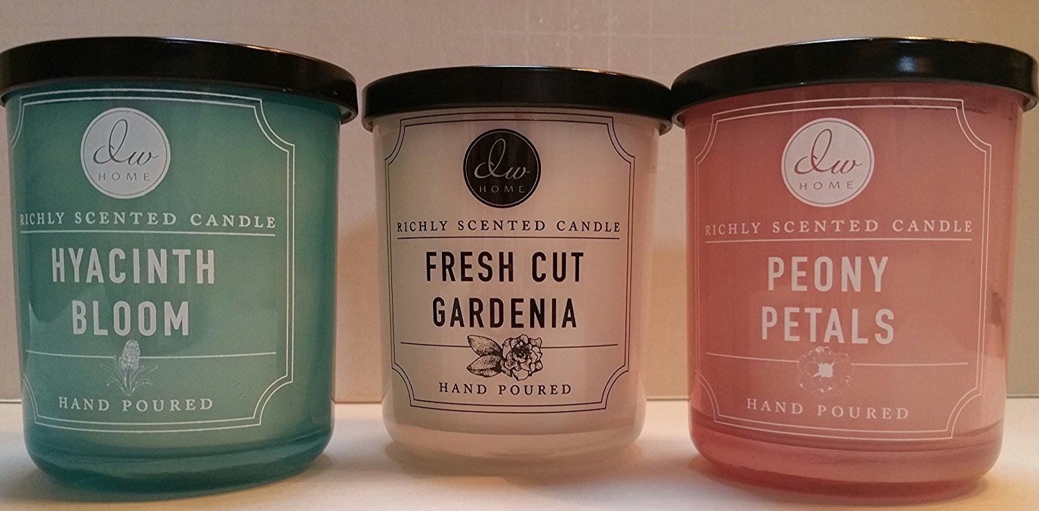 Amazon.com: Variety Bundle of 3 DW Home Richly Scented Candles in ...