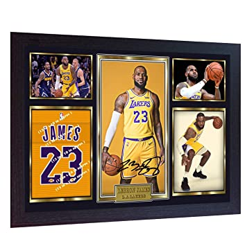 f6ee44c8b S E DESING NEW LeBron James Los Angeles Lakers signed autograph LEBRON  photo print NBA Framed