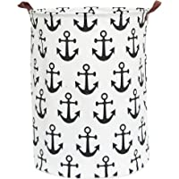 CLOCOR Large Round Storage Baskets,Collapsible Storage Bin, Dirty Laundry Hamper Baskets for Baby Boys and Girls, Office…