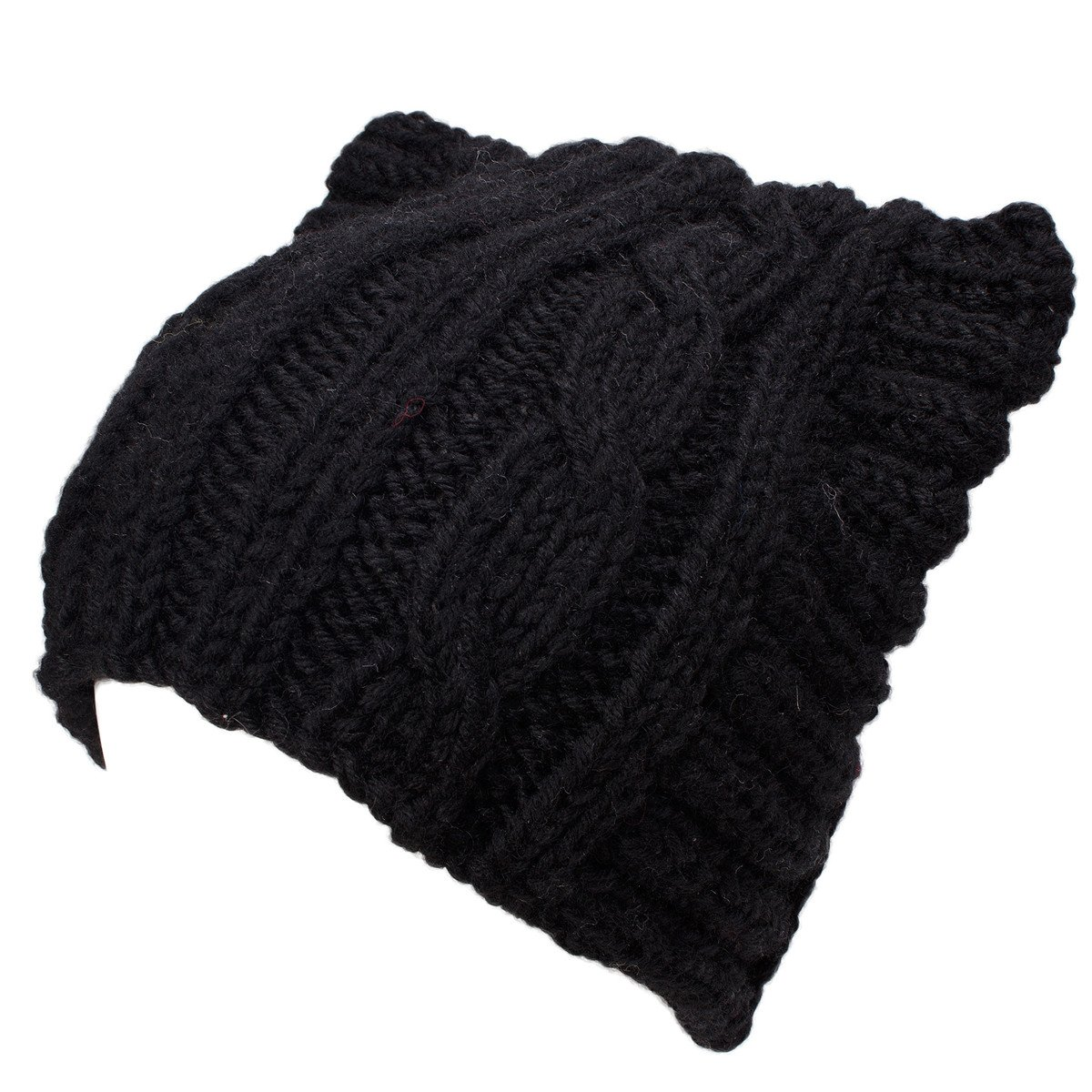 63d133861 Lawliet Cute Meow Kitty Woman Wool Handmade Knit Cap Beanie Hat A004