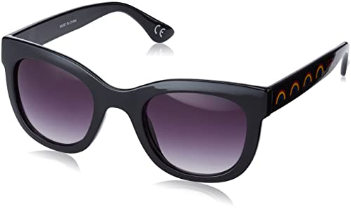 vans Catch YA Later Sunglasses, Occhiali da Sole Donna, Nero (Glossy Black)