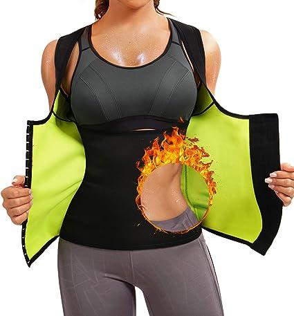 Womens Waist Trainer Corset For Weight Loss Neoprene Body Shaper Vest Sauna