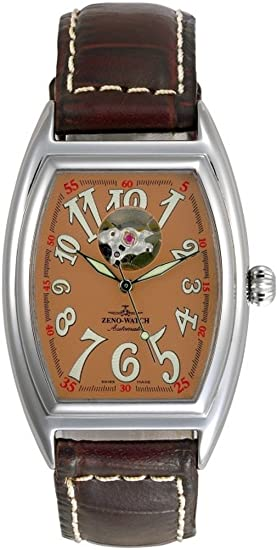 Zeno-Watch Reloj Mujer - Tonneau Retro Open Heart - 8085U-h6: Amazon.es: Relojes