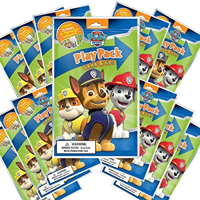 Nickelodeon Paw Patrol Grab and Go Play Packs (Pack of 12): Toys & Games [5Bkhe1103894]