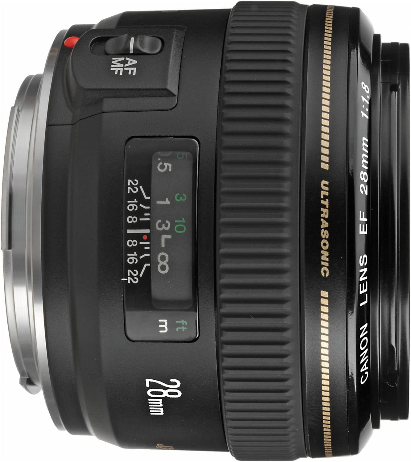 Canon EF 28mm f//1.8 USM Wide Angle Lens for Canon SLR Cameras