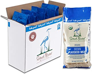 product image for Great River Organic Milling, Specialty Flour, Brown Flaxseed Meal, Organic, 16 Ounces (Pack of 4)