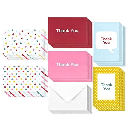 Amazon 48 assorted pack thank you note cards bulk box set 48 assorted pack thank you note cards bulk box set blank on the inside m4hsunfo