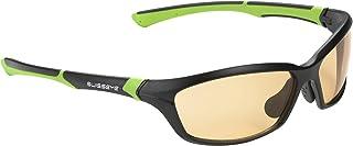 Swiss Eye Occhiali sportivi Drift, Nero (Black Matt/green), M 12072