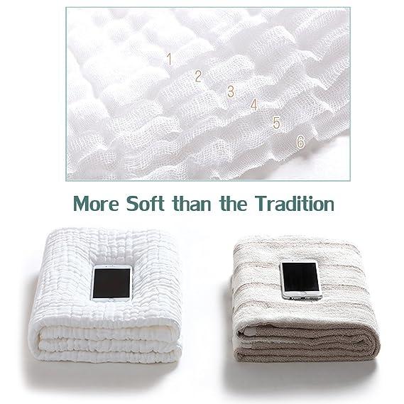 Toalla de baño de bebé con capucha - 2 unidades diseño de coser Natural algodón orgánico toalla de baño para bebé: Amazon.es: Bebé