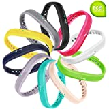 Fit-power, cinturino di ricambio per Fitbit Flex 2, Pack of 10, S