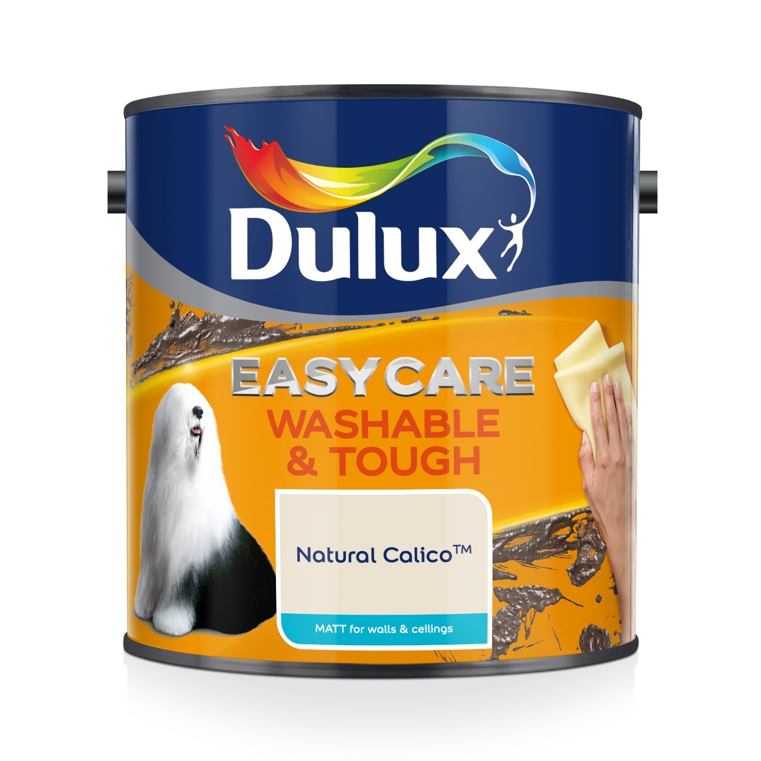 Dulux Easycare Washable and Tough Matt Paint, Natural Calico 2.5 L AkzoNobel 403201