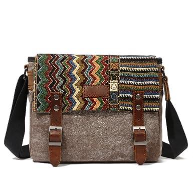 Amazoncom Canvas Messenger Bag For Womenuarzt Vintage Shoulder