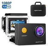 APEMAN Sports Action Camera 12MP Full HD 1080p Action Cam Wasserdichte Action Kamera Helmkamera Unterwaserkamera mit Transporttasche und Zubehör Kit