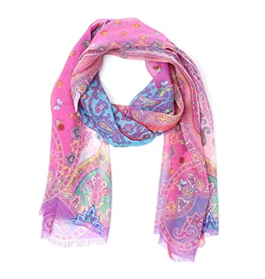 official photos fa4ee f3b22 Etro Foulard Donna 106605595650 Seta Rosa: Amazon.it ...