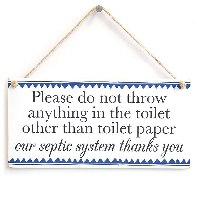 Amazon.com: Por favor, no manta cualquier cosa en el inodoro ...