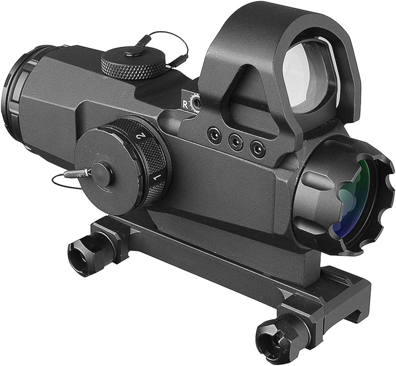 Ajdgl Holographisches Reflex Red Dot Sight Tactical Optics Scope Beleuchtetes Entfernungsmesser Fadenkreuz Mit 20 Mm Schienenhalterung Für Die Jagd Sport Freizeit