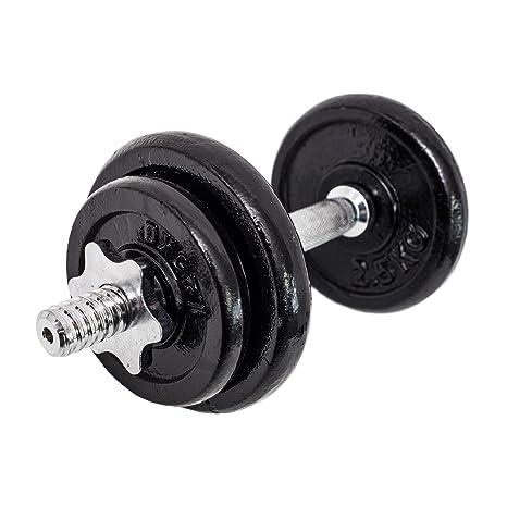 FitAndFun Mancuernas de fitness Pesas Ajustable 4 Discos Entrenamiento Muscolation Gimnasio Casa 10kg (Cod.