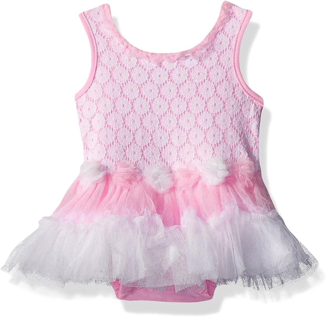 Little Lass Baby Girls Tutu Creeper Lace Overlay