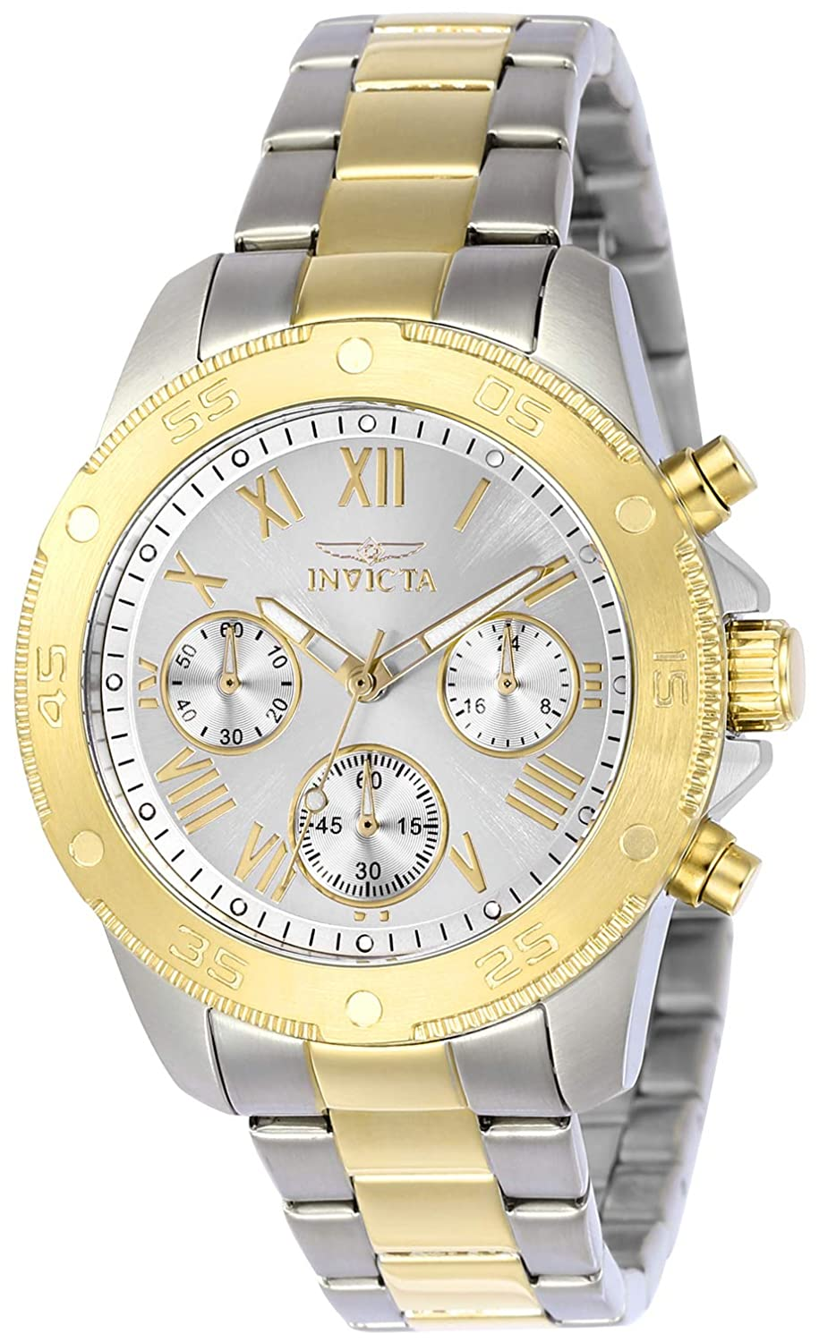 Invicta Women s Wildflower Quartz Watch with Stainless-Steel Strap, Two Tone, 18 Model 21733