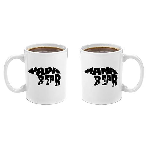 mama bear papa bear premium 11oz coffee mug gift set perfect birthday gifts