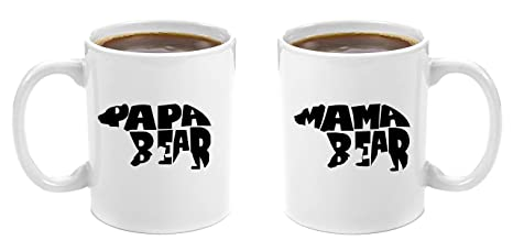 mama bear papa bear premium 11oz coffee mug gift set perfect birthday gifts