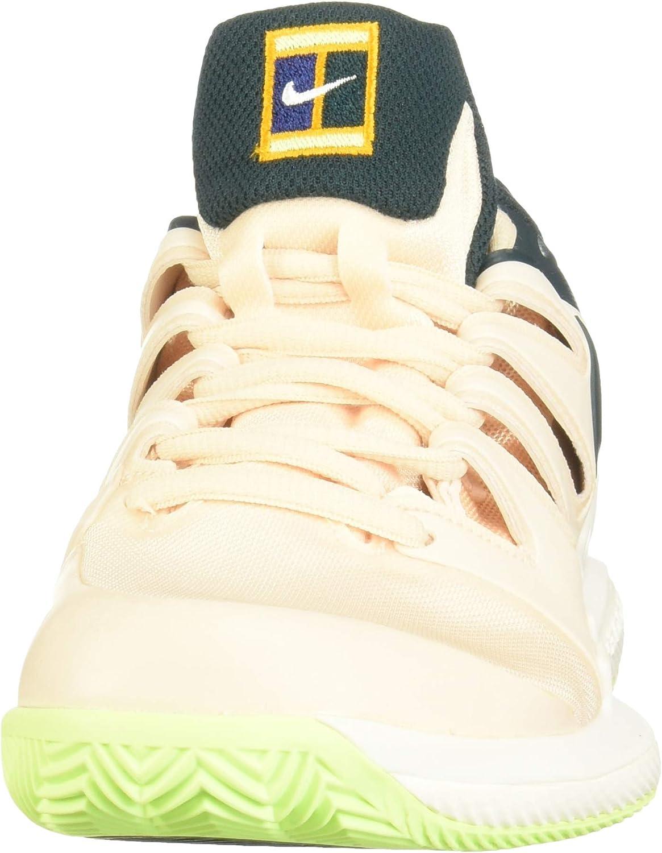 Nike W Air Zoom Vapor X Cly, Chaussures de Tennis Femme Multicolore Guava Ice Midnight Spruce Orange Peel 802