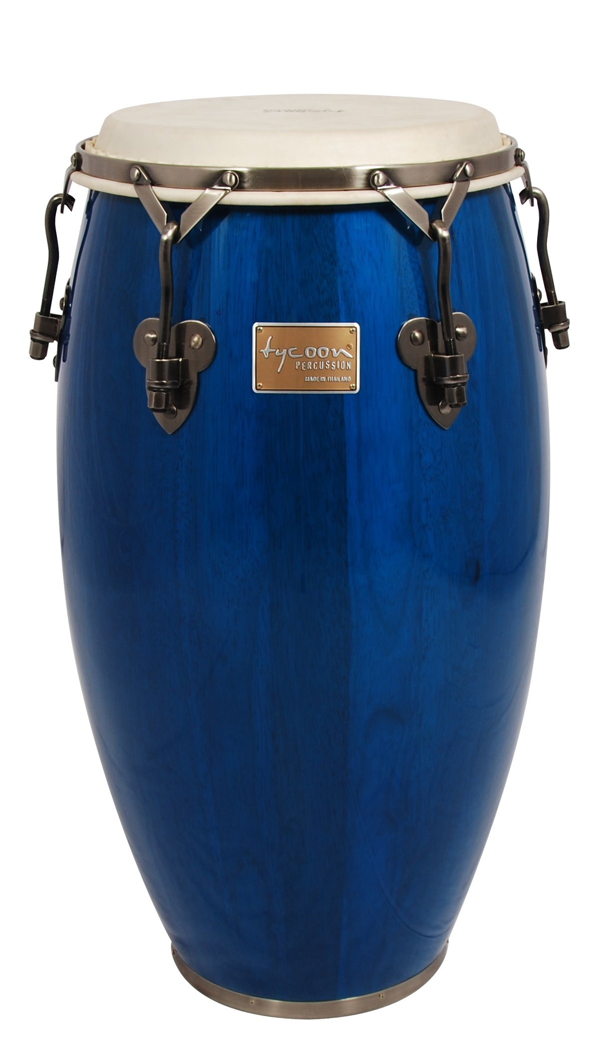 Tycoon Percussion 12 1/2 Inch Signature Classic Series Blue Tumba With Single Stand