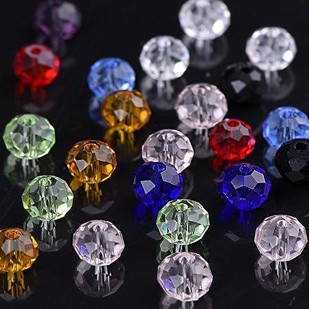 467b295ee99 800 Piezas 6mm Cristal Tallado Perlas De Cristal Rondelles Con Caja y paño  limpio Outus
