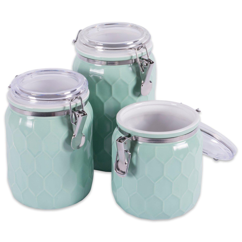Amazon.com: DII 3-Piece Modern Honeycomb Half Matte Glaze Ceramic ...