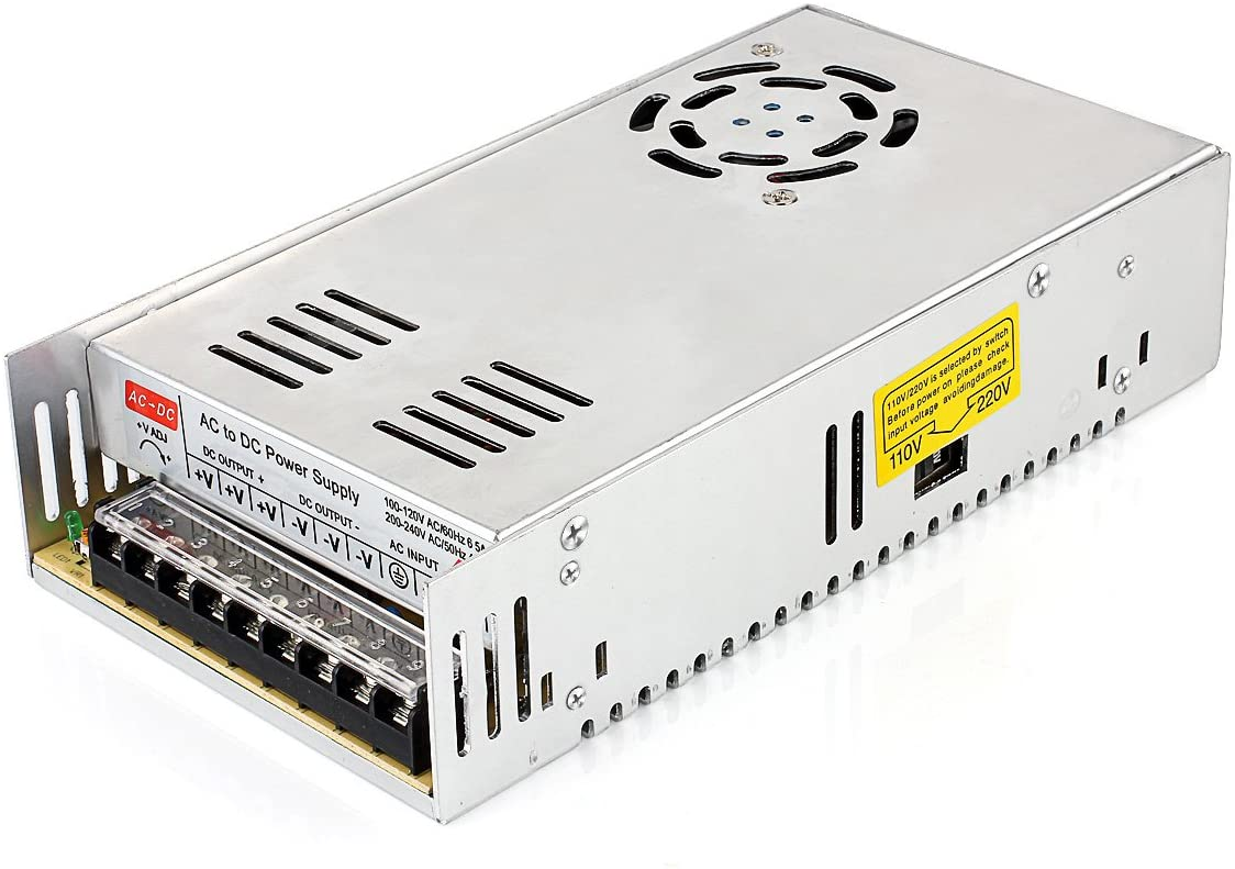 Uhomely Voltage Transformer AC 110V/220V to DC 12V 30A 360W Regulated Switching Power Supply Universal Electric CCTV