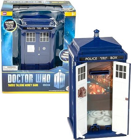 Amazon.com: Doctor Who Tardis – Hucha puertas Abrir y cerrar ...